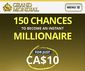 Grand Mondial - Mega Moolah offer