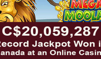 The largest jackpot payout in Canada at an online casino